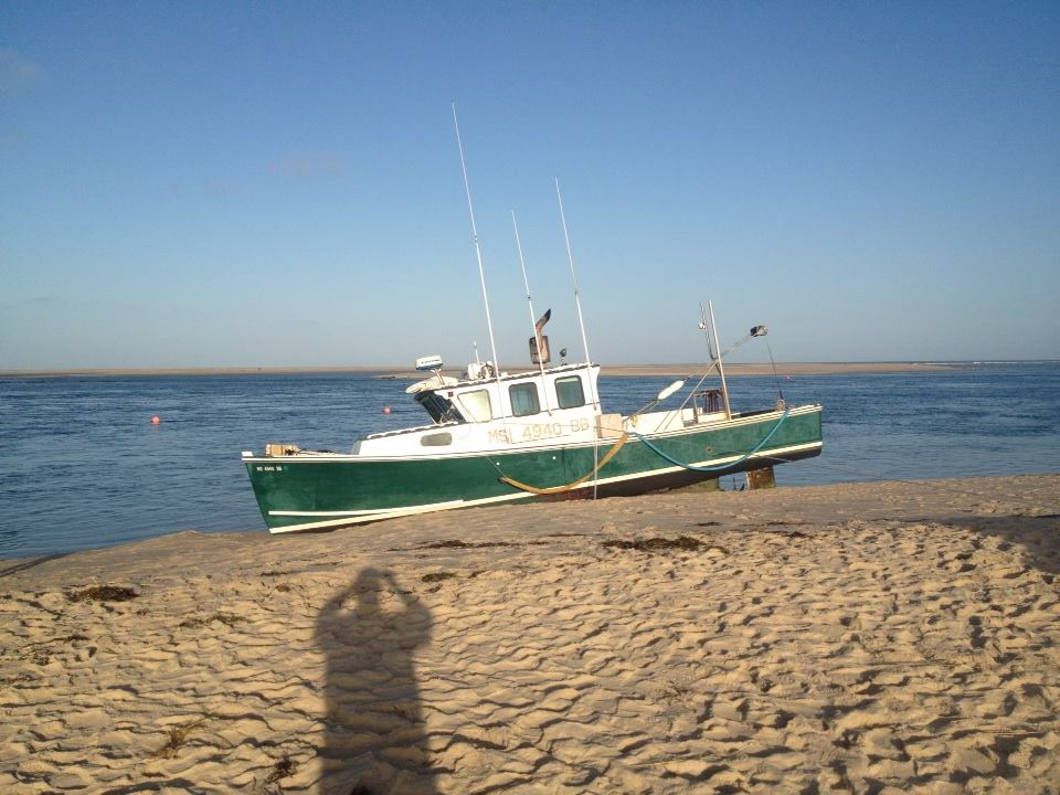 beached fishing vessel